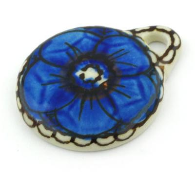 Polish Pottery 2-inch Circle Pendant | Boleslawiec Stoneware | Polmedia H5828G