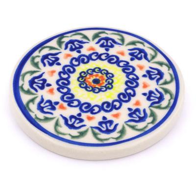 Polish Pottery 3-inch Coaster | Boleslawiec Stoneware | Polmedia H7160G