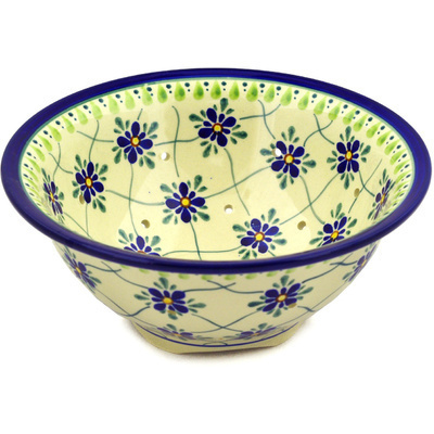 Polish Pottery 8-inch Colander | Boleslawiec Stoneware | Polmedia H7819D
