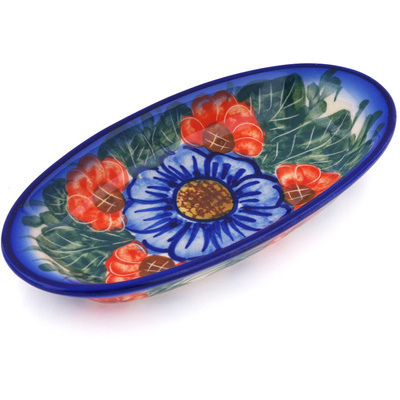 Polish Pottery 6-inch Condiment Dish | Boleslawiec Stoneware | Polmedia H7461G