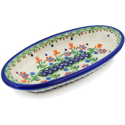 Polish Pottery 6-inch Condiment Dish | Boleslawiec Stoneware | Polmedia H3722E