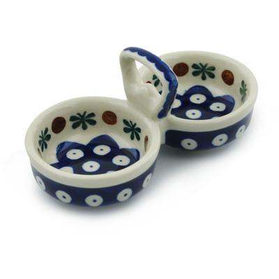 Polish Pottery 5-inch Condiment Server | Boleslawiec Stoneware | Polmedia H2824A