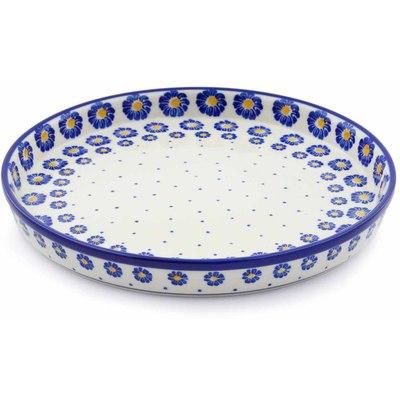 Polish Pottery 10-inch Cookie Platter   Boleslawiec Stoneware   Polmedia H0525J
