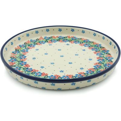 Polish Pottery 10-inch Cookie Platter | Boleslawiec Stoneware | Polmedia H1781I