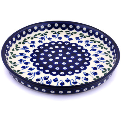 Polish Pottery 10-inch Cookie Platter | Boleslawiec Stoneware | Polmedia H5123G