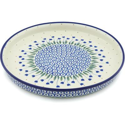 Polish Pottery 10-inch Cookie Platter | Boleslawiec Stoneware | Polmedia H5942H