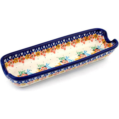 Polish Pottery 8-inch Corn Tray | Boleslawiec Stoneware | Polmedia H8249B