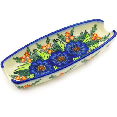 Polish Pottery 9-inch Corn Tray | Boleslawiec Stoneware | Polmedia H2332G