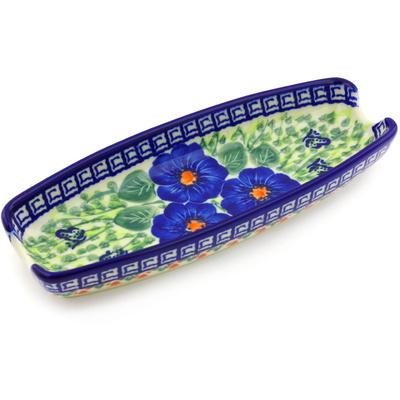 Polish Pottery 9-inch Corn Tray | Boleslawiec Stoneware | Polmedia H3009G