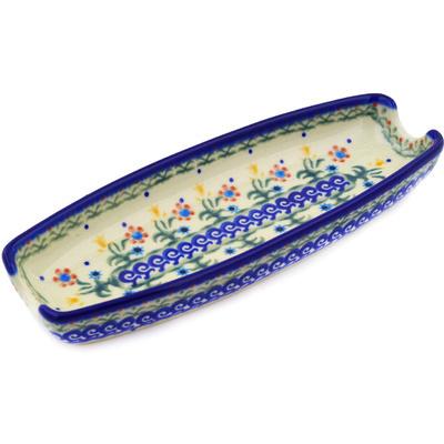 Polish Pottery 9-inch Corn Tray | Boleslawiec Stoneware | Polmedia H0401C