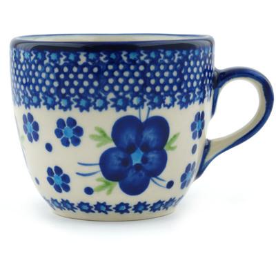 Polish Pottery 7 oz Cup | Boleslawiec Stoneware | Polmedia H6668F
