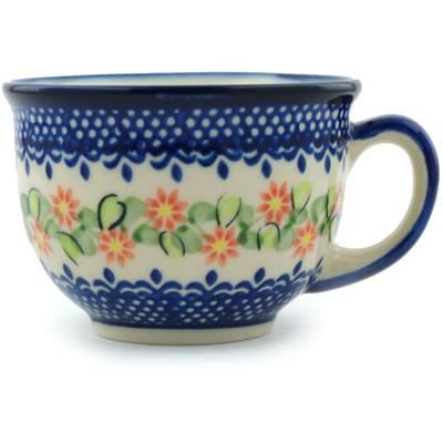 Polish Pottery 10 oz Cup | Boleslawiec Stoneware | Polmedia H0587H