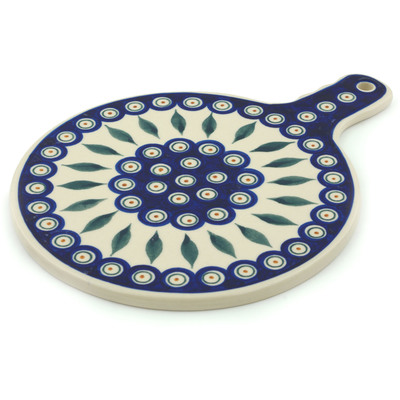 Polish Pottery 12-inch Cutting Board | Boleslawiec Stoneware | Polmedia H2841I
