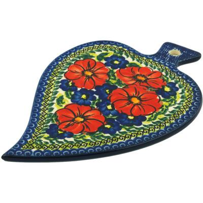 Polish Pottery 9-inch Cutting Board | Boleslawiec Stoneware | Polmedia H6098I