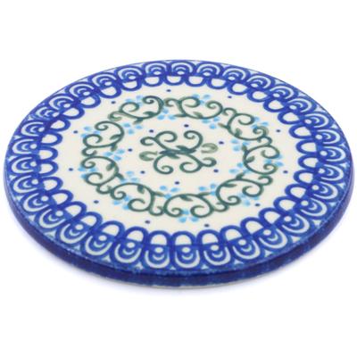 Polish Pottery 5-inch Cutting Board | Boleslawiec Stoneware | Polmedia H6589B
