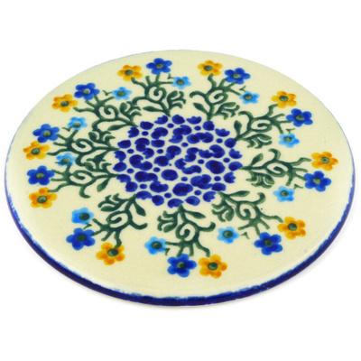 Polish Pottery 5-inch Cutting Board | Boleslawiec Stoneware | Polmedia H6533A
