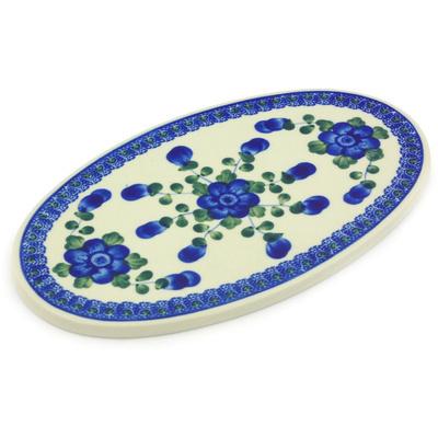 Polish Pottery 10-inch Cutting Board | Boleslawiec Stoneware | Polmedia H4502G