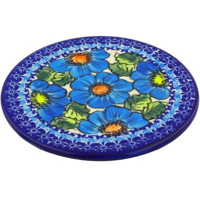 Polish Pottery 7-inch Cutting Board | Boleslawiec Stoneware | Polmedia H6646F