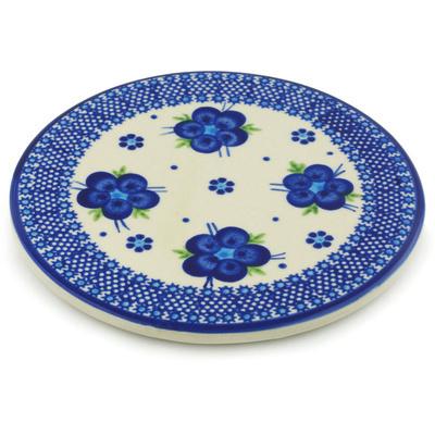 Polish Pottery 7-inch Cutting Board   Boleslawiec Stoneware   Polmedia H0762H