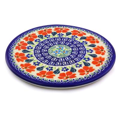 Polish Pottery 7-inch Cutting Board | Boleslawiec Stoneware | Polmedia H9173I