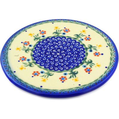 Polish Pottery 7-inch Cutting Board | Boleslawiec Stoneware | Polmedia H3793E