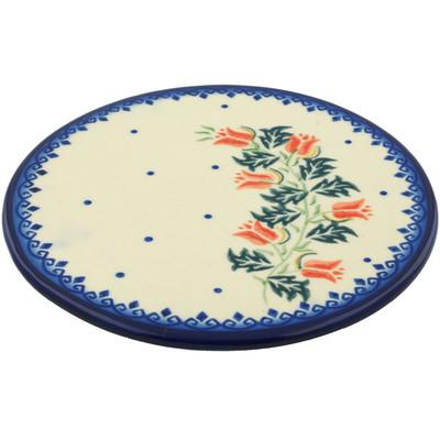 Polish Pottery 7-inch Cutting Board | Boleslawiec Stoneware | Polmedia H5740I