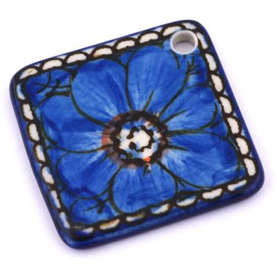 Polish Pottery 2-inch Diamond Pendant | Boleslawiec Stoneware | Polmedia H6615G
