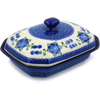 Polish Pottery 10-inch Dish with Cover | Boleslawiec Stoneware | Polmedia H5284B