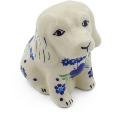 Polish Pottery 4-inch Dog Figurine | Boleslawiec Stoneware | Polmedia H4055H