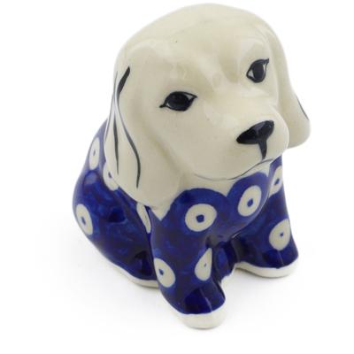 Polish Pottery 4-inch Dog Figurine | Boleslawiec Stoneware | Polmedia H4059H