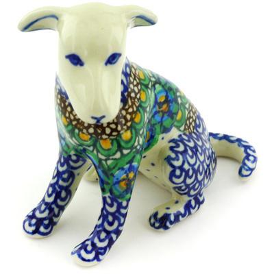 Polish Pottery 4-inch Dog Figurine | Boleslawiec Stoneware | Polmedia H3751G