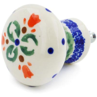 Polish Pottery 2-inch Drawer Pull Knob | Boleslawiec Stoneware | Polmedia H9093F