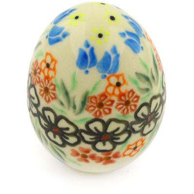Polish Pottery 3-inch Egg Figurine | Boleslawiec Stoneware | Polmedia H0630F
