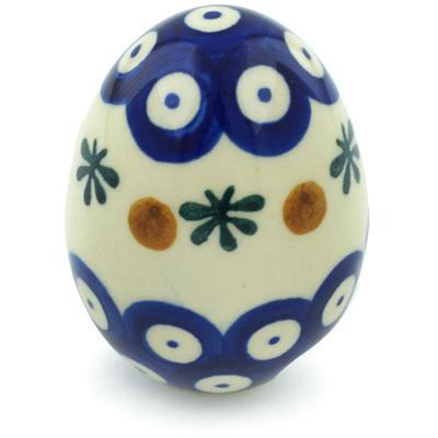 Polish Pottery 3-inch Egg Figurine | Boleslawiec Stoneware | Polmedia H8327H