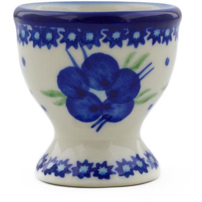 Polish Pottery 2-inch Egg Holder | Boleslawiec Stoneware | Polmedia H9029F