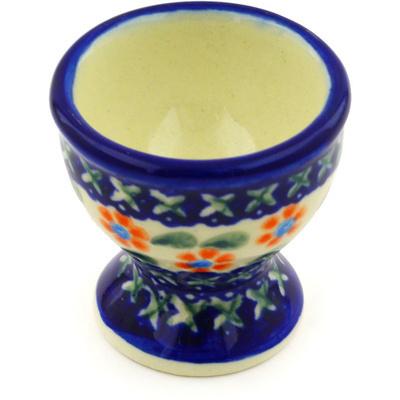 Polish Pottery 2-inch Egg Holder | Boleslawiec Stoneware | Polmedia H9137F