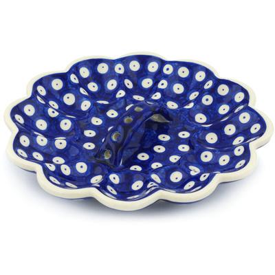 Polish Pottery 9-inch Egg Plate | Boleslawiec Stoneware | Polmedia H0479H