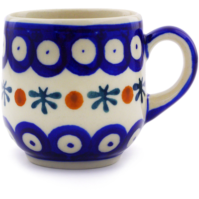 Polish Pottery 4 oz Espresso Cup | Boleslawiec Stoneware | Polmedia H9487I