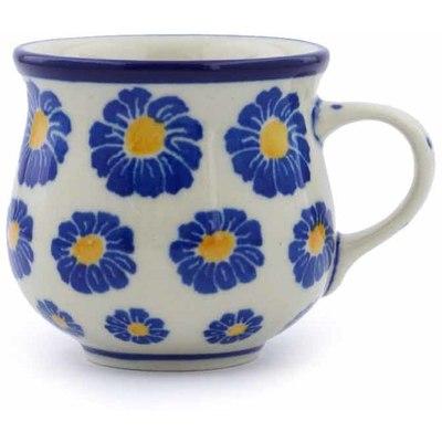 Polish Pottery 2 oz Espresso Cup | Boleslawiec Stoneware | Polmedia H0372J