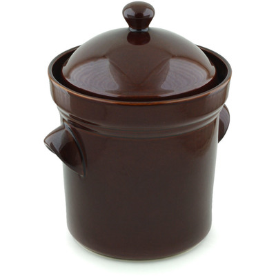 Polish Pottery 212 Oz Fermenting Crock Pot Boleslawiec