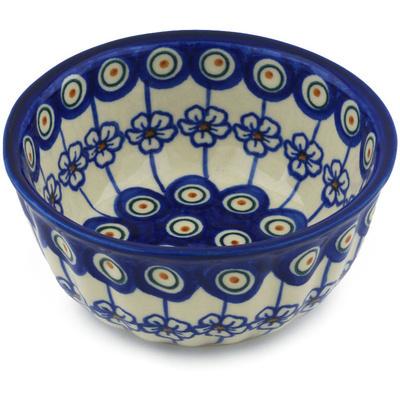 Polish Pottery 5-inch Fluted Bowl | Boleslawiec Stoneware | Polmedia H1023H