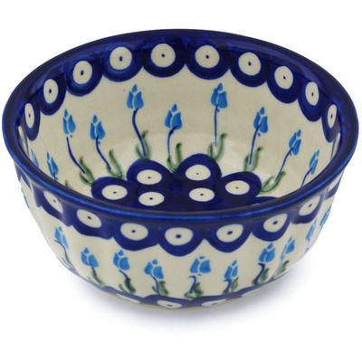Polish Pottery 5-inch Fluted Bowl | Boleslawiec Stoneware | Polmedia H0826H