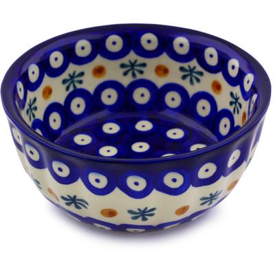 Polish Pottery 5-inch Fluted Bowl   Boleslawiec Stoneware   Polmedia H7071I