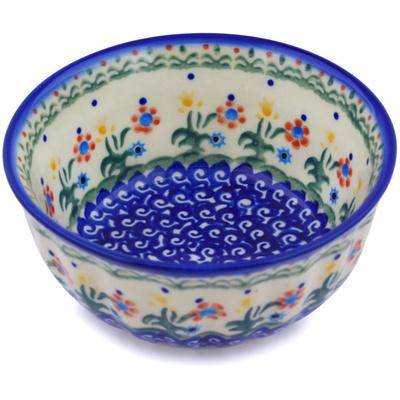 Polish Pottery 5-inch Fluted Bowl | Boleslawiec Stoneware | Polmedia H3863E