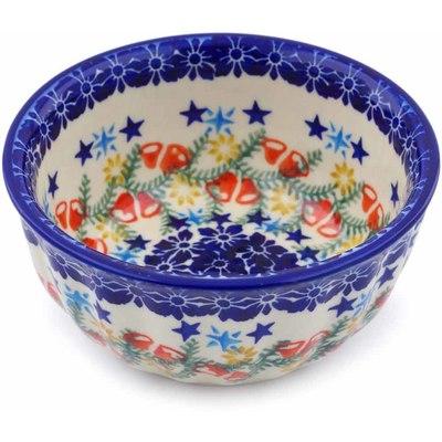 Polish Pottery 5-inch Fluted Bowl | Boleslawiec Stoneware | Polmedia H1232J