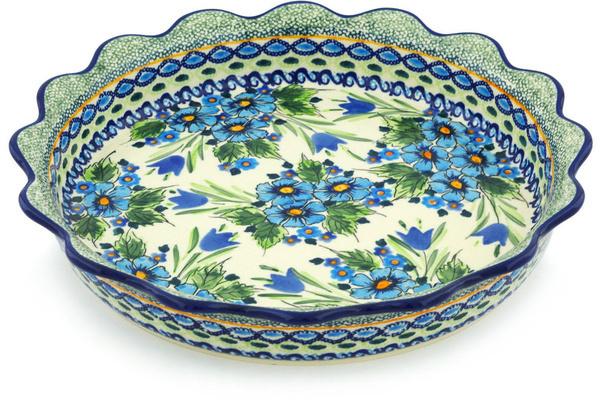 Polish Pottery 11-inch Fluted Pie Dish | Boleslawiec Stoneware | Polmedia H1324H  sc 1 st  Polmedia Polish Pottery & Polish Pottery 11-inch Fluted Pie Dish | Boleslawiec Stoneware ...