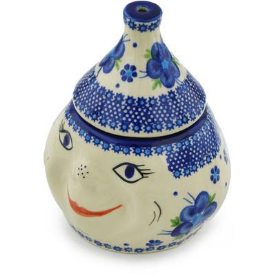 Polish Pottery 7-inch Garlic Jar | Boleslawiec Stoneware | Polmedia H0367C
