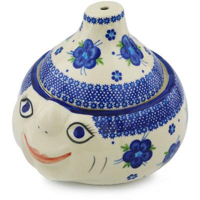 Polish Pottery 9-inch Garlic and Onion Jar | Boleslawiec Stoneware | Polmedia H0707H