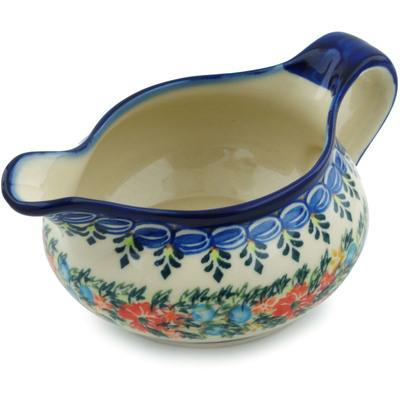 Polish Pottery 19 oz Gravy Boat | Boleslawiec Stoneware | Polmedia H9233H