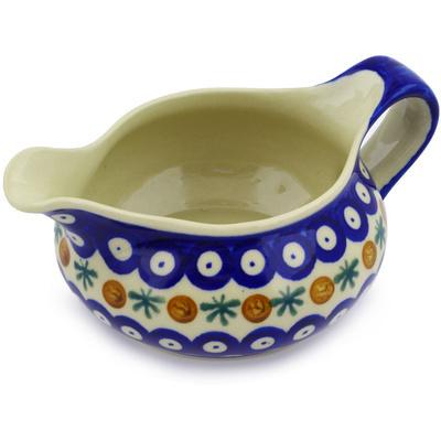 Polish Pottery 19 oz Gravy Boat | Boleslawiec Stoneware | Polmedia H3607E